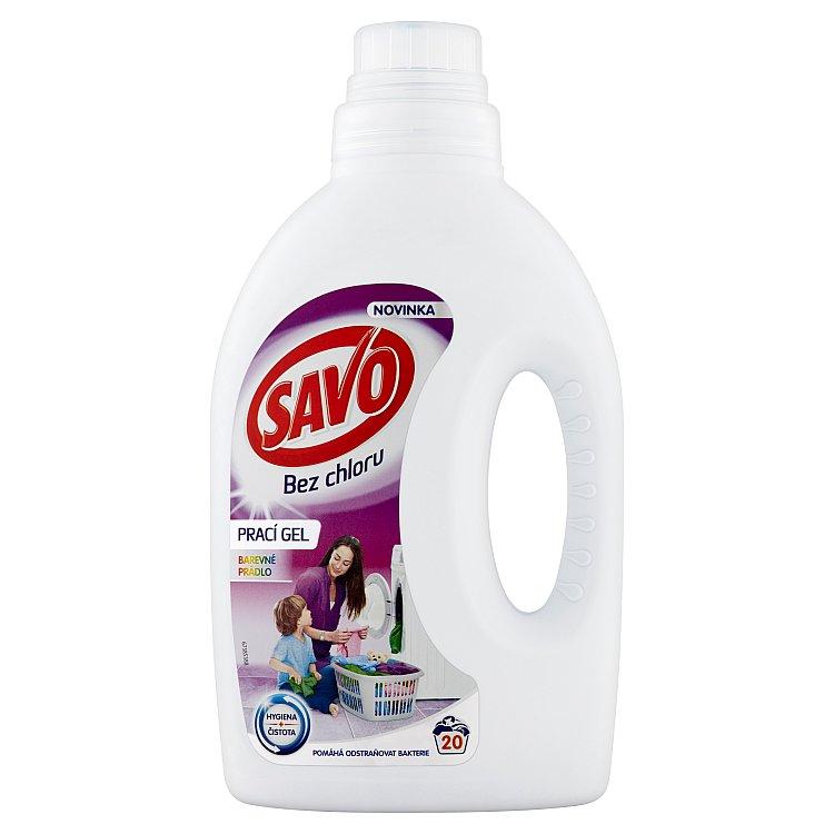 SAVO prací gel barevné prádlo 20 praní 1 l