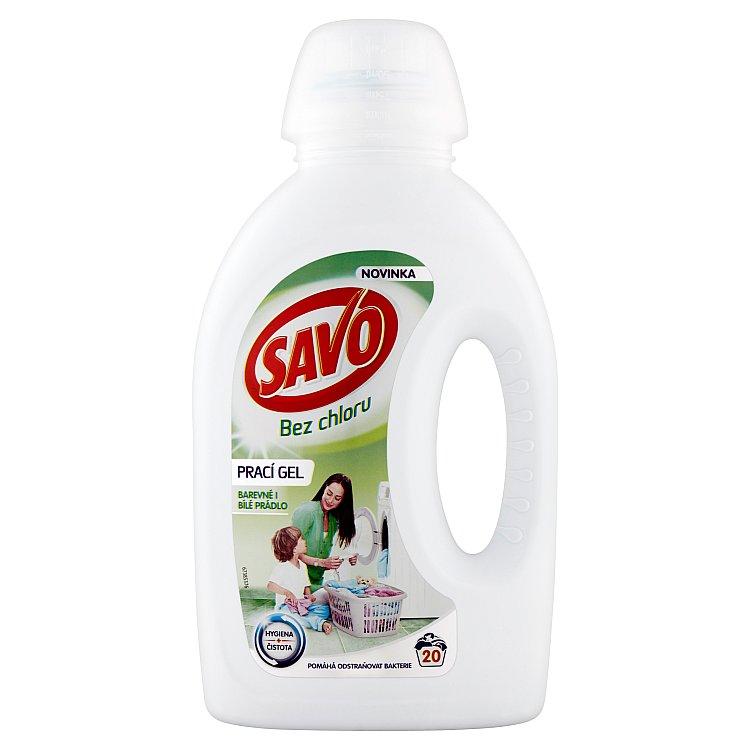 SAVO prací gel barevné i bílé prádlo 20 praní 1 l