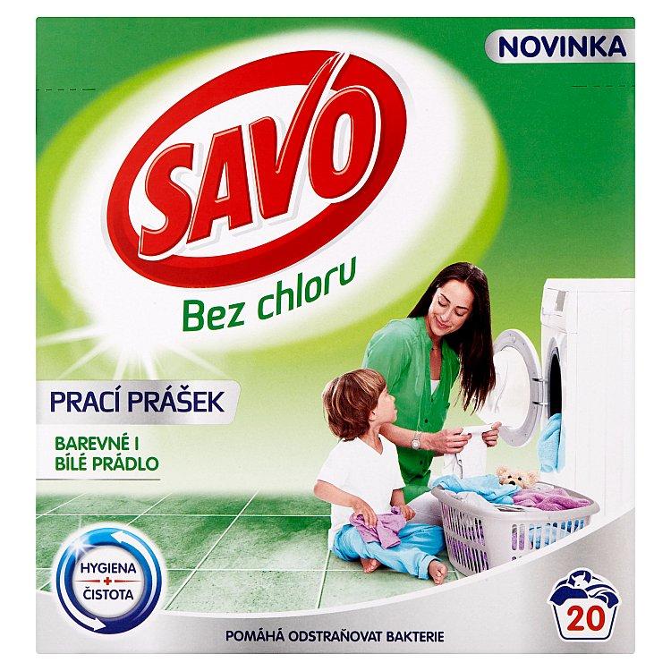 SAVO prací prášek barevné i bílé 20 praní 1,4 Kg