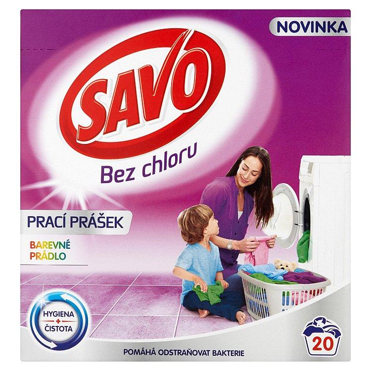 SAVO prací prášek barevné prádlo 20 praní 1,4 Kg