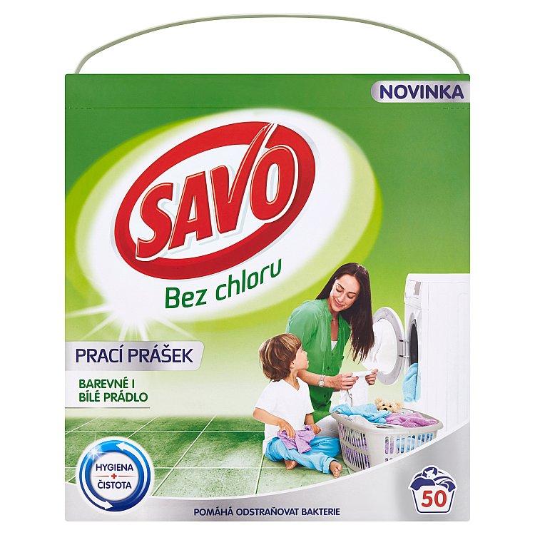 SAVO prací prášek barevné i bílé 50 praní 3 Kg