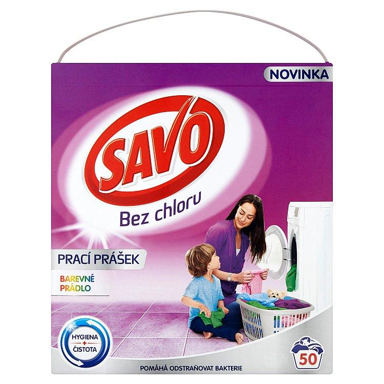 SAVO prací prášek barevné prádlo 50 praní 3 Kg