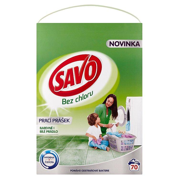 SAVO prací prášek barevné i bílé 70 praní 4,9 Kg