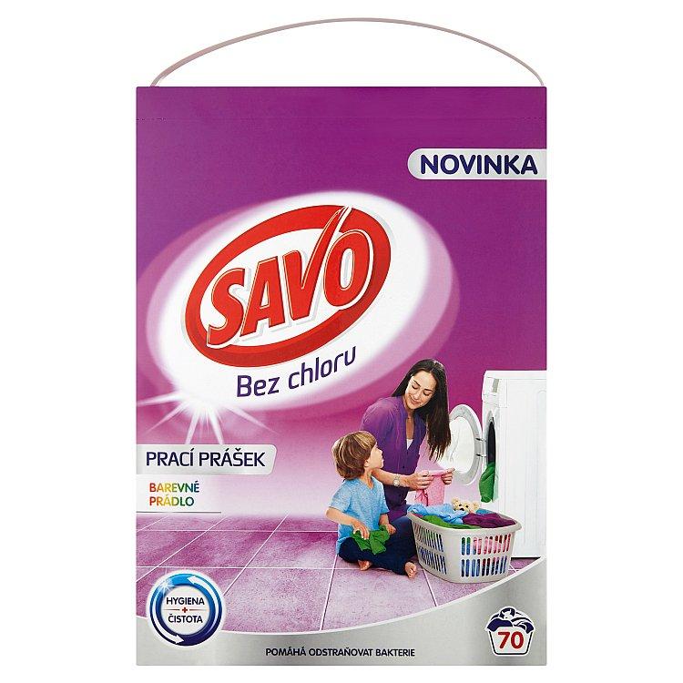 SAVO prací prášek barevné prádlo 70 praní 4,9 kg