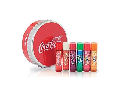 Sada balzámů na rty s příchutí limonád Coca Cola (Tin Box) 6 ks