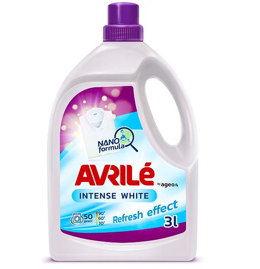Avrilé Intense White prací gel na bílé prádlo, 50 praní 3 l