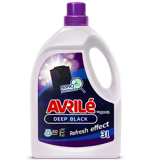 Fotografie Avrilé Deep Black prací gel na černé prádlo, 50 praní 3 l