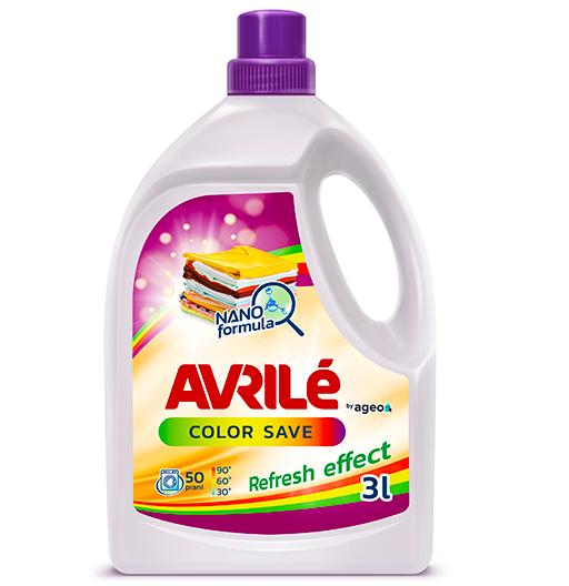 Fotografie Avrilé Color Save prací gel na barevné prádlo, 50 praní 3 l