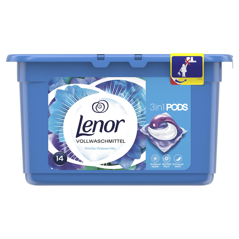 Lenor Water Lily 3v1 tekuté kapsle na praní 14 ks