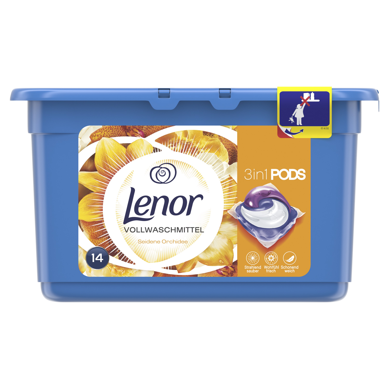 Lenor Silk Orchid 3v1 tekuté kapsle na praní 14 ks