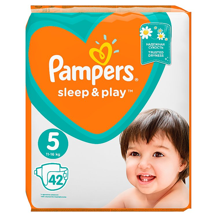 Pampers Sleep&Play V5, 11–16 kg 42 ks