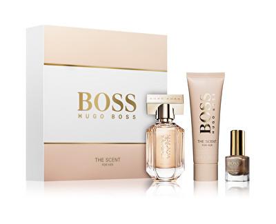Hugo Boss Boss The Scent For Her - EDP + tělové mléko + lak na nehty 30 ml + 50 ml + 4,5 ml