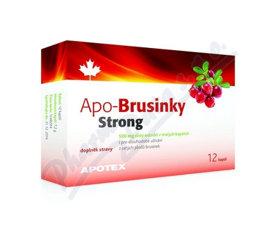 Fotografie APO-Brusinky Strong 500mg cps.12