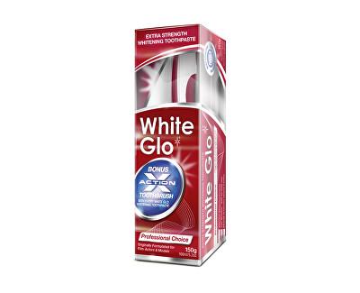 Profesionální bělící zubní pasta 150 g + kartáček na zuby a mezizubní kartáčky