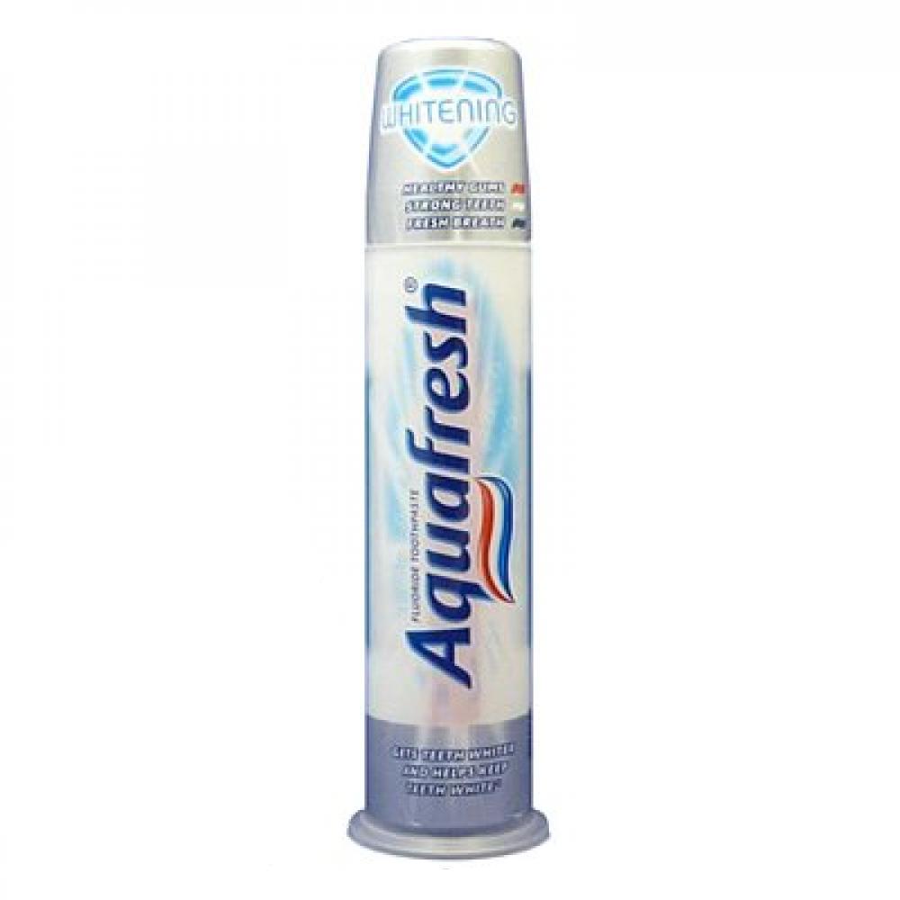 Aquafresh Whitening zubní pasta s dávkovačem 100 ml