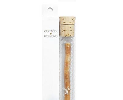 Přírodní zubní kartáček Miswak včetně skleněného pouzdra s Květem života