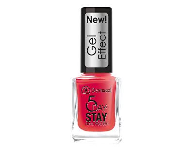 Dermacol 5 Day Stay lak na nehty s gelovým efektem 30 Chanson, 12 ml
