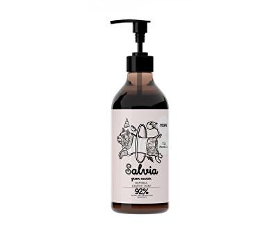 Tekuté koupelnové mýdlo s TGA formulí Šalvěj a zelený kaviár 500 ml