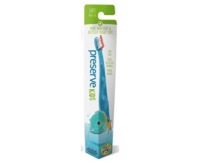 Dětský zubní kartáček soft - azurový