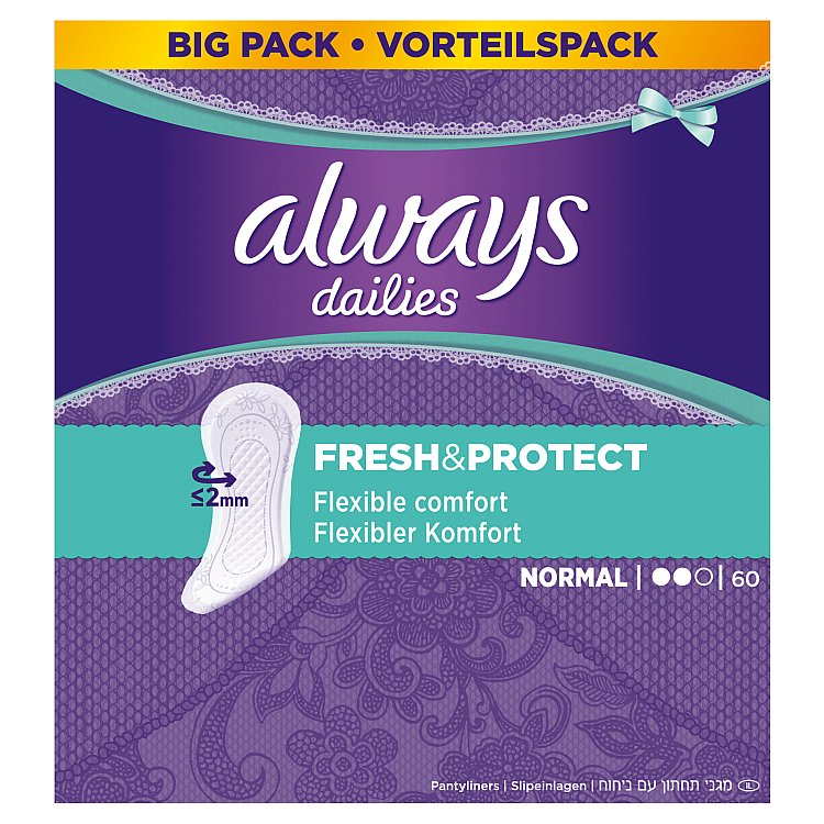 Always Fresh & Protect Normal intimky 60 ks