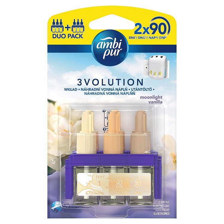 Fotografie Ambi Pur 3Volution Moonlight Vanilla náplň do osvěžovače duopack 2 x 20 ml