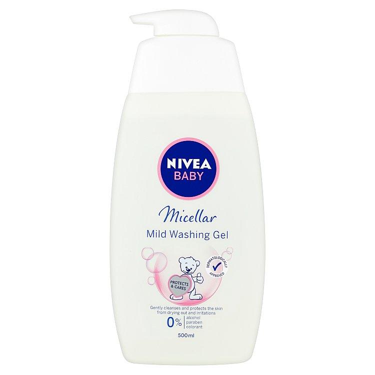 Fotografie Nivea Baby micelární mycí gel 500 ml