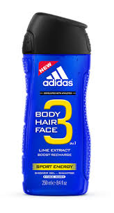 Fotografie Adidas Sport Energy 3v1 sprchový gel 250 ml