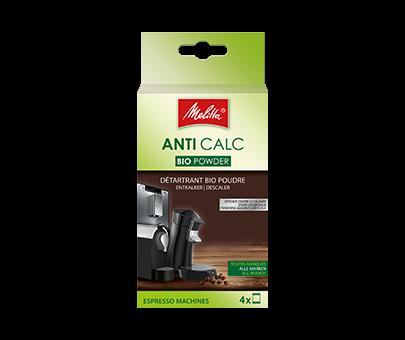 Fotografie Melitta ANTI CALC práškový bio-odvápňovač pro espresso a kapslové kávovary 4 x 40g