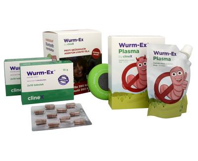 Dárkové balení Wurm-Ex 2 x 20 tob. + Wurm-Ex Plasma 100 ml ZDARMA + Bluetooth reproduktor ZDARMA