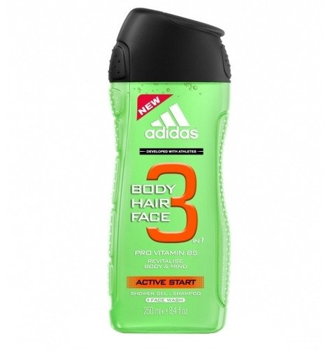 Fotografie Adidas Active Start 3v1 sprchový gel 250 ml