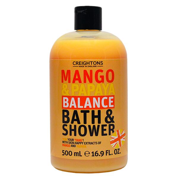 Fotografie Creightons sprchový gel a pěna do koupele mango & papája 500 ml