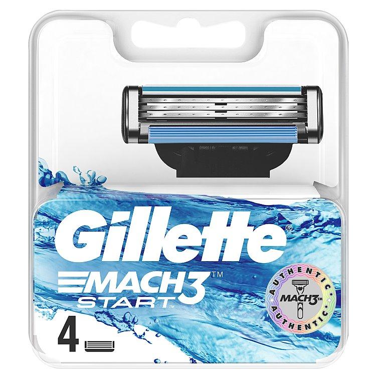 Gillette Mach3 Start náhradní hlavice 4 ks