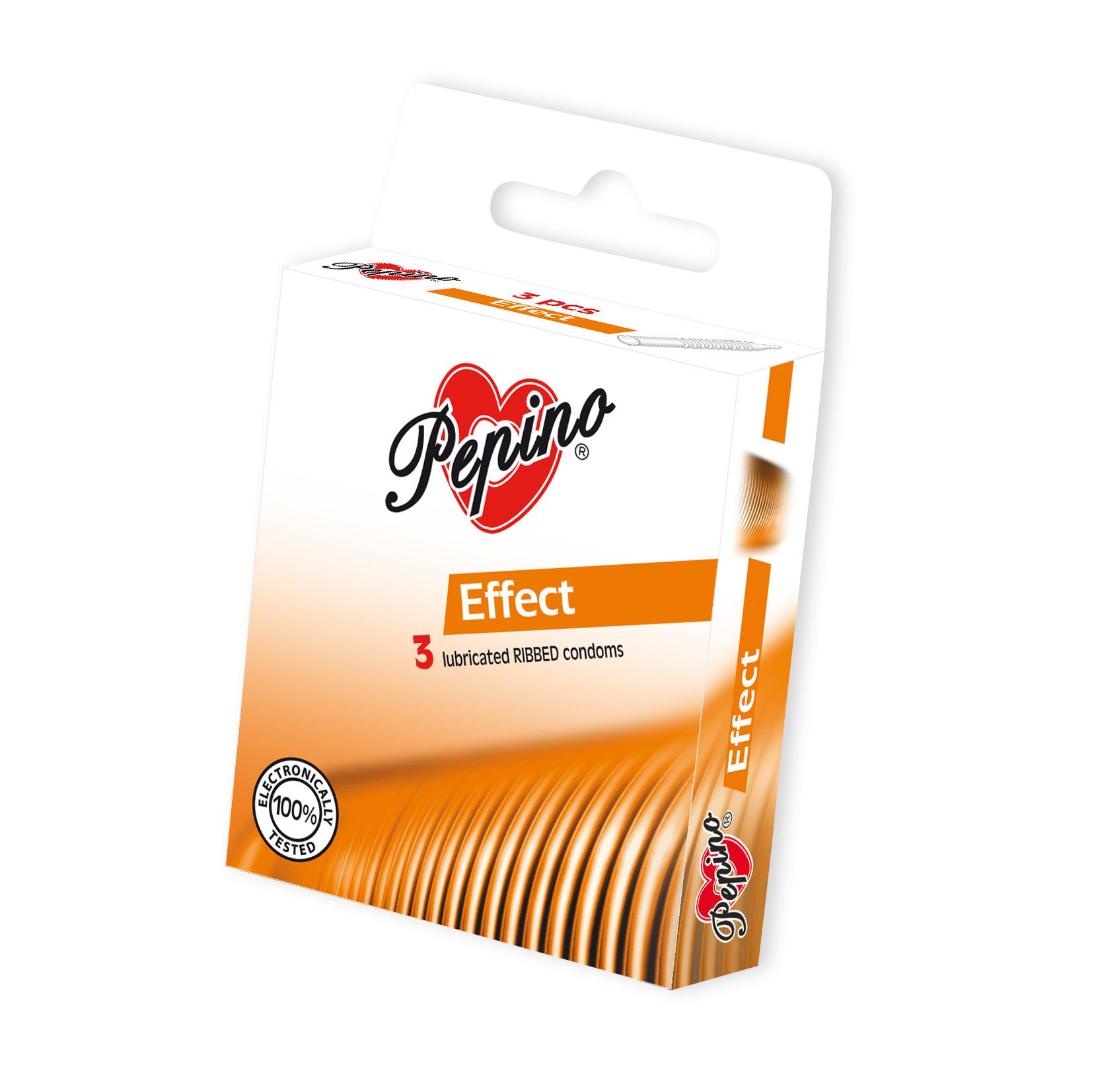 Fotografie Pepino Effect kondomy z přírodního latexu 3 ks
