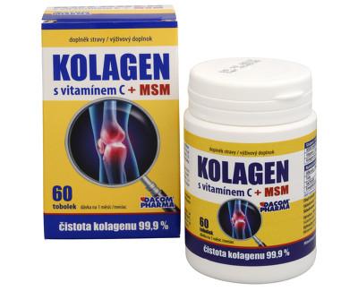 Fotografie Dacom Pharma Kolagen s vitamínem C + MSM 60 tob.