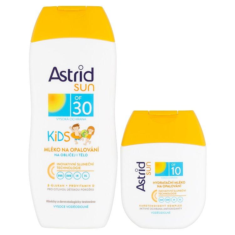 Astrid Sun dětské mléko na opalování OF 30 200 ml + Hydratační mléko na opalování OF 10 80 ml