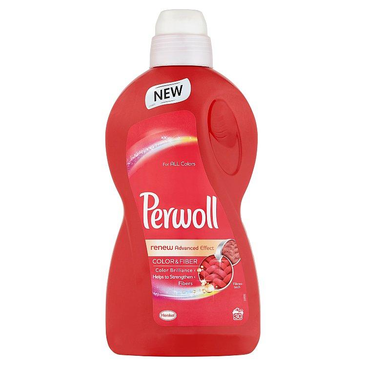 Perwoll Renew Advanced Effect Color & Fiber prací prostředek, 30 praní 1800 ml