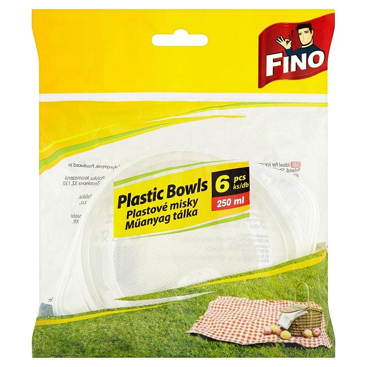 Fino plastové misky 250 ml 6 ks