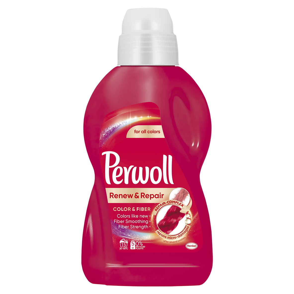 Perwoll Renew Advanced Effect Color & Fiber prací gel, 15 praní 900 ml