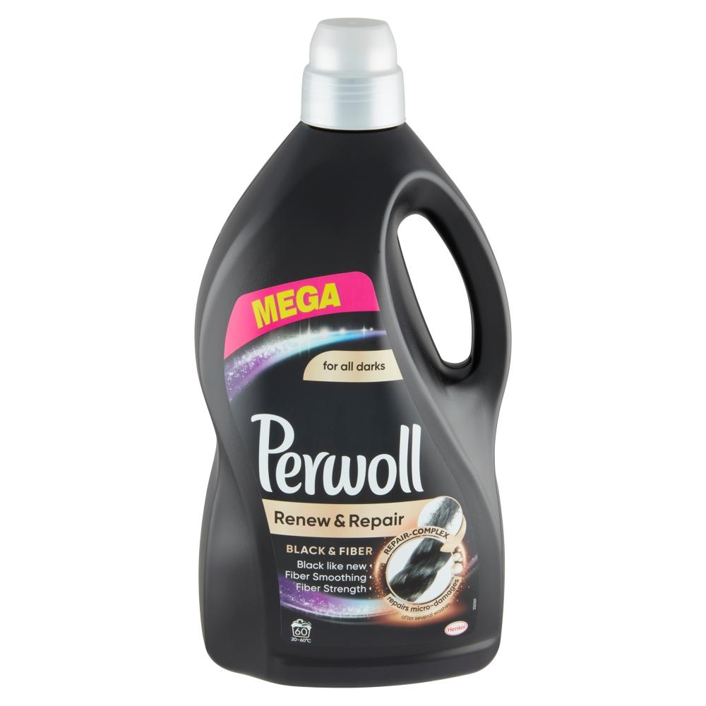 Perwoll Renew & Repair Black prací gel, 60 praní 3,6 l