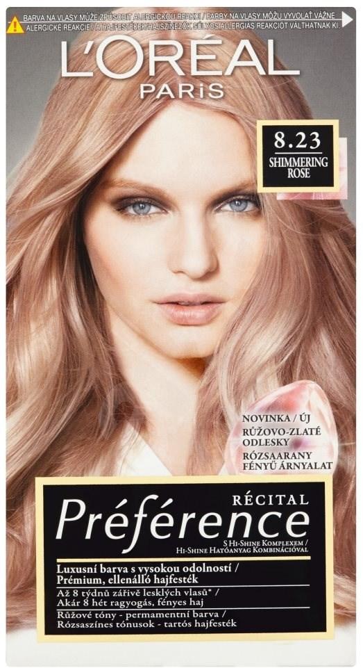 Ľoréal Paris Préférence 8.23 Shimmering Rose barva na vlasy 60 ml