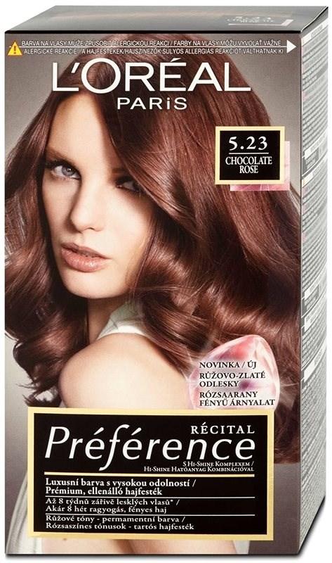 Ľoréal Paris Préférence 5.23 Chocolate Rose barva na vlasy 60 ml