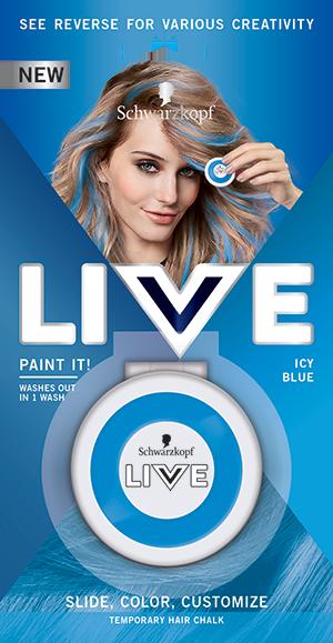 Schwarzkopf live Paint It Icy Blue křída na vlasy 50 ml