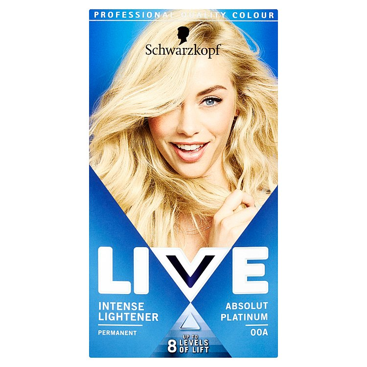 Schwarzkopf live Color Absolut Platinum lightener 00A 50 ml