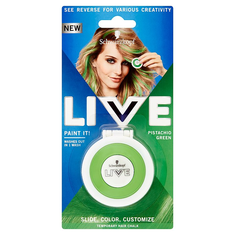 Schwarzkopf live Paint It Shamrock Green křída na vlasy 50 ml
