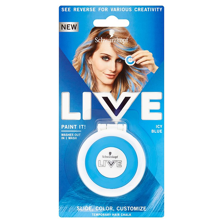 Schwarzkopf live Paint It Icy Blue křída na vlasy 50 ml