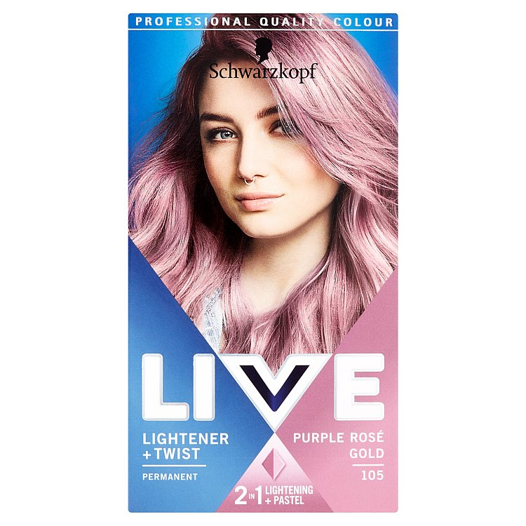 Schwarzkopf live Color Lightener & Twist odstín 105 Purple Rose Gold 50 ml