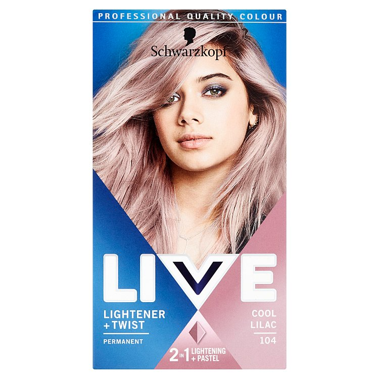 Schwarzkopf live Color Lightener & Twist odstín 104 Cool Lilac 50 ml