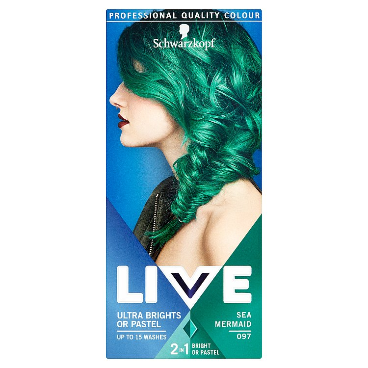 Schwarzkopf Live Color Ultra Bright or Pastel Sea Mermaid 097 50 ml