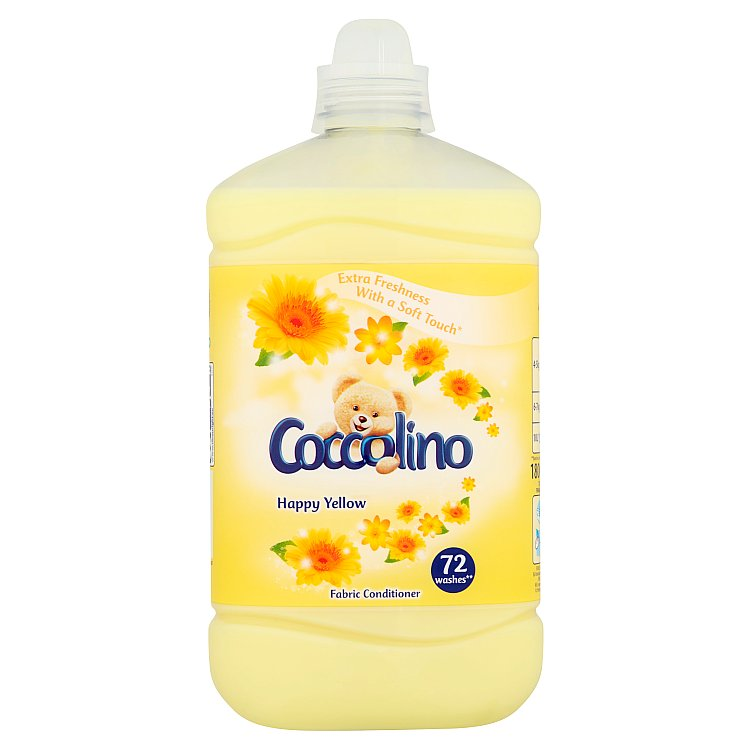 Coccolino aviváž Happy Yellow, 72 praní 1,8 l