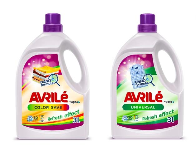 AVRILÉ prací gely Color Save + Universal, 50 praní 3 l + 3 l